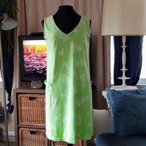 Wear Abouts neon green beach dress size small